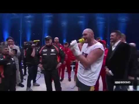 Tyson Fury Sings After Post Fight Interview