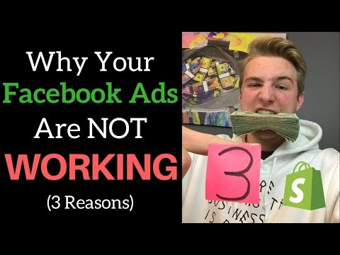 3 Reasons Your Facebook Ads Aren't Working (Dropshipping HACKS)