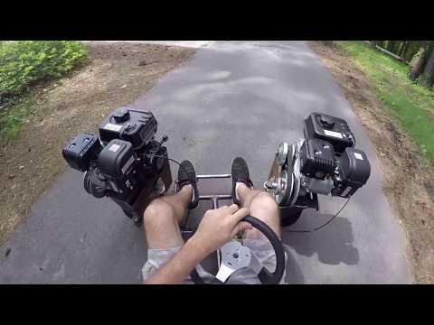 FWD Go Kart Full First Ride