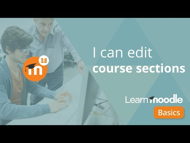 Editing course sections