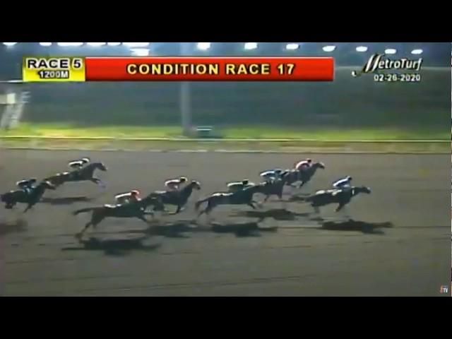 CINCO DEL DRINCO - FEBRUARY 26, 2020 - MMTCI RACE 5 - BAYANG KARERISTA HORSE RACING AT METRO TURF