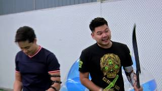 Aman Nasim & Kay Khydir archery tag | Pop! Games | POP TV
