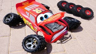 Fabulous Lightning McQueen Cars 3 and FOOTBALL w/ Wheel on the bus  Nursery Rhymes for Children