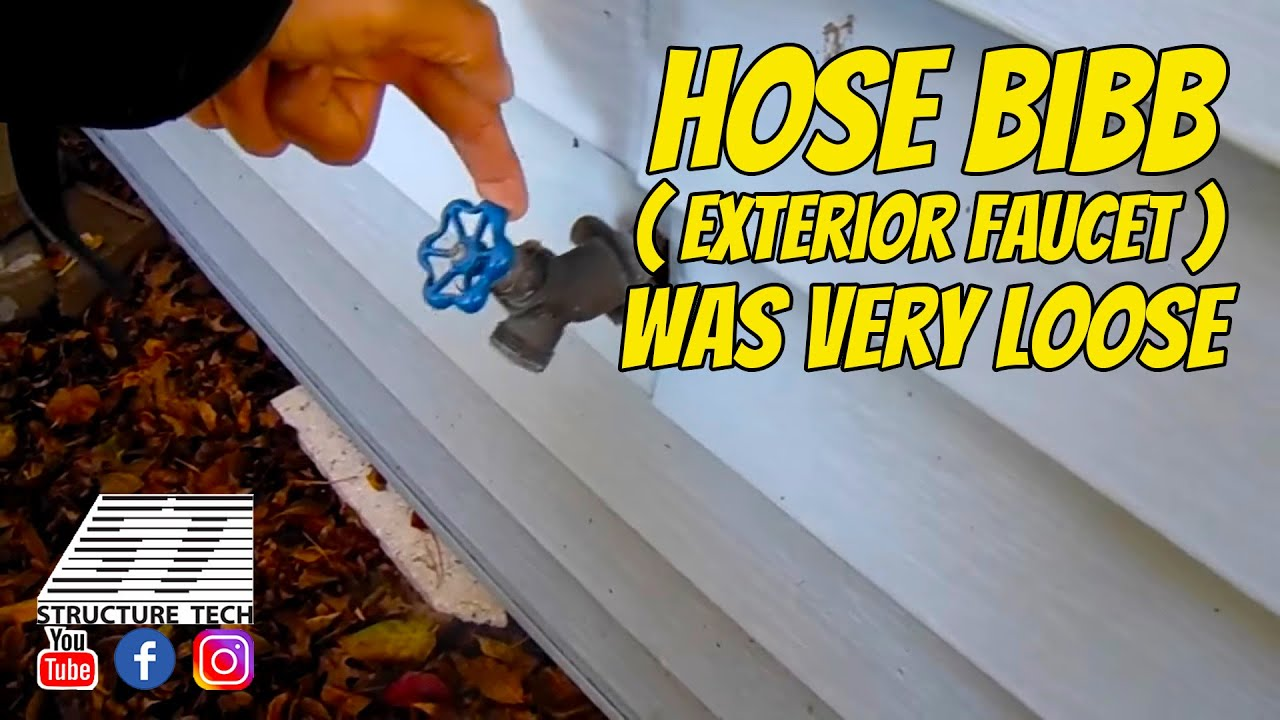 Hose Bibb Exterior Faucet Was Very Loose At A Home