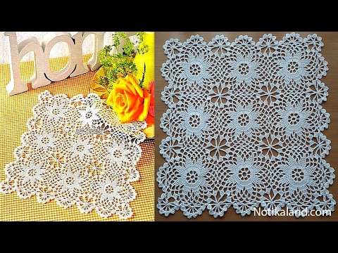 Crochet Doily Crochet Motif For Doily Tablecloth Part 2 How To Join