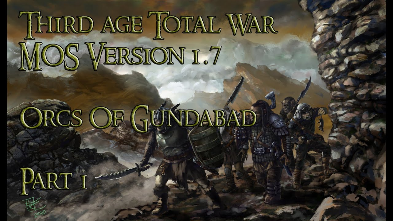 Third Age Total War MOS 1 7 - Walkthrough Part 1 - Orcs Of Gundabad  [Dansk/Danish]