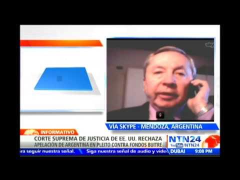 """Expdte. del Banco Hipotecario Nacional de Argentina analiza sobre el fallo de """"fondos buitre"""""""