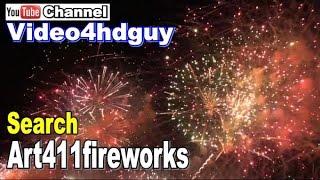 Fireworks HD 3 hr Screensaver beautiful, sound track Video Art FW02 | art411fireworks™ art411var™