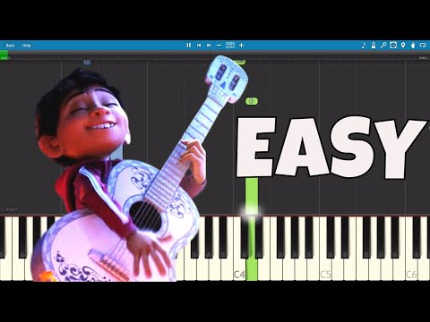 How to play Remember Me - EASY Piano Tutorial - Recuérdame COCO Soundtrack
