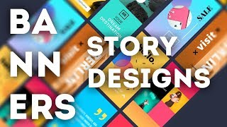 Design & Animate beautiful Instagram Story Ads!
