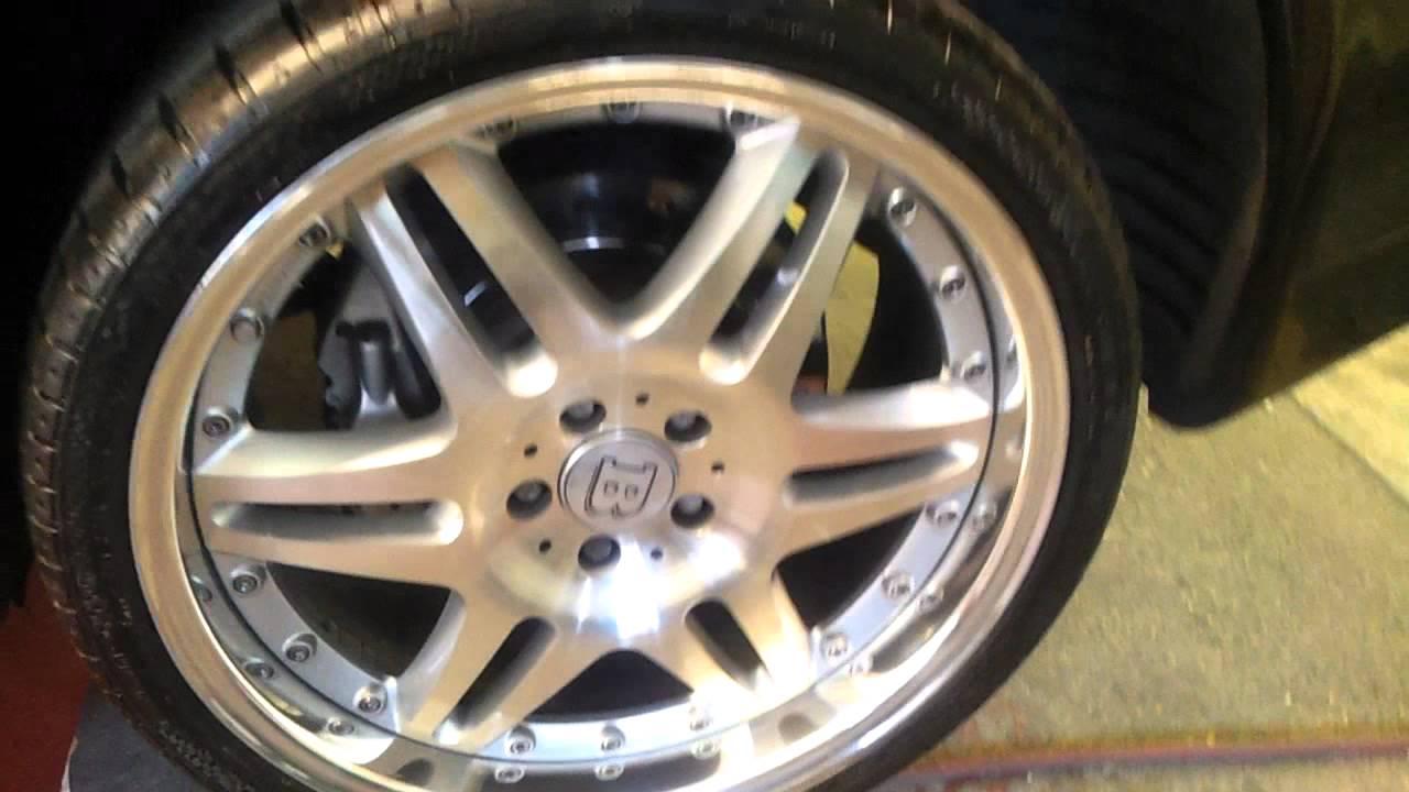 brabus sl55 k8 with 20 monoblock vi polished wheels. Black Bedroom Furniture Sets. Home Design Ideas