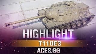 Крепкий кепарь! Т110Е3 в World of Tanks на карте Химмельсдорф