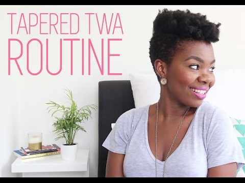 Tapered TWA Routine on 4C Hair | African Natural Hair Blogger