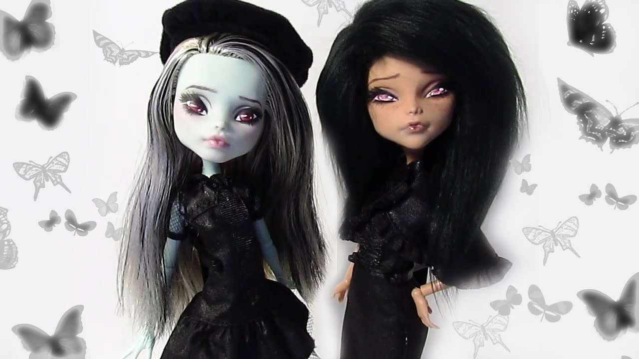 How To Make Gothic Dolls Youtube