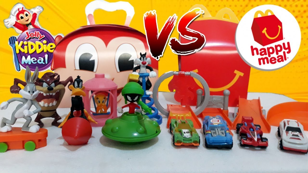 April 2019 Jollibee Kiddie Meal Vs Mcdonald S Happy Meal