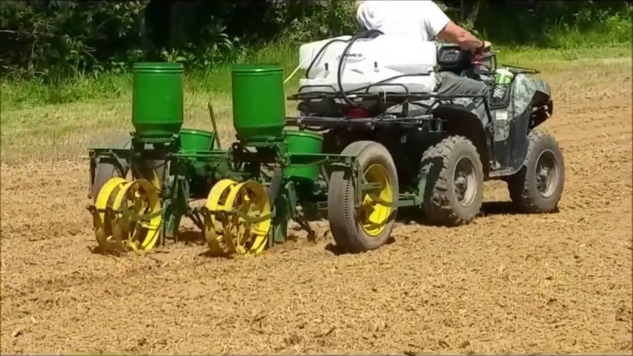 Planting Corn Food Plot With Antique John Deere 2 Row Planter Youtube