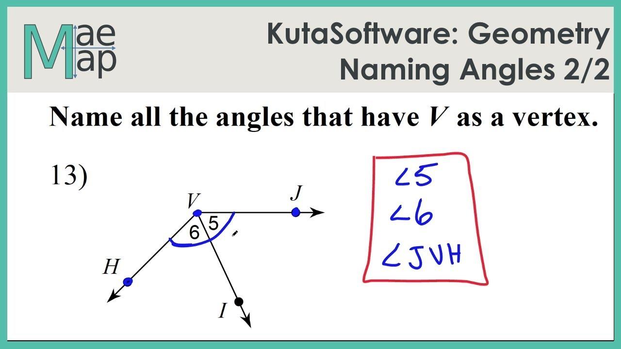 worksheet Naming Angles kutasoftware geometry naming angles part 2 youtube 2