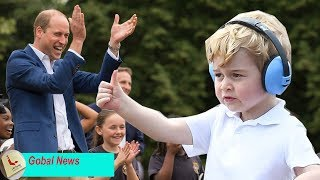 Prince William is extremely proud when his son George supports the ballet dancers to dance flash mod