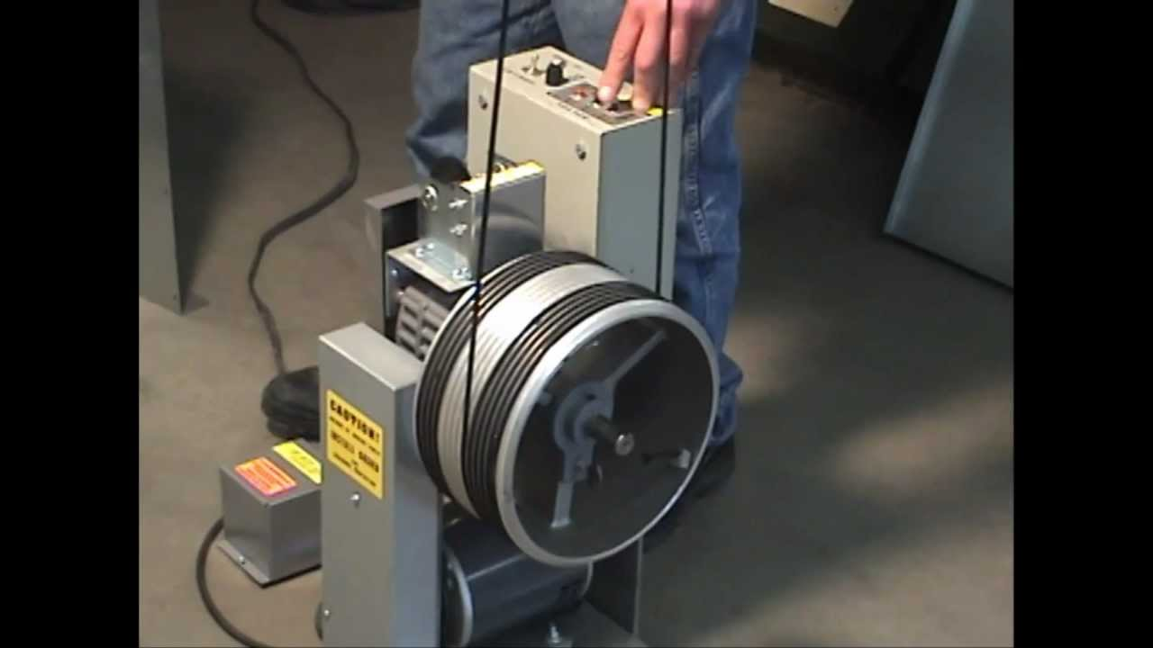 How to load a grooved cable drum - YouTube
