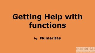 Getting context sensitive help for functions in Excel