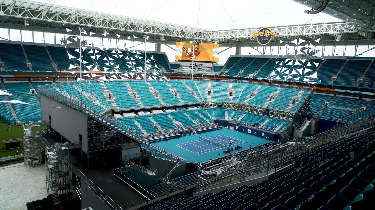 hard rock stadium, la nueva casa del miami open - youtube