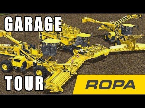 Farming Simulator 2017 ROPA DLC   GARAGE TOUR