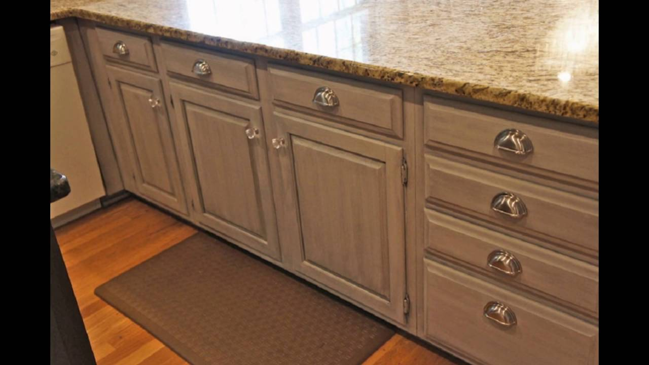 Chalk Paint Bathroom Cabinets Part - 49: Painting Kitchen Cabinets With Chalk Paint - YouTube