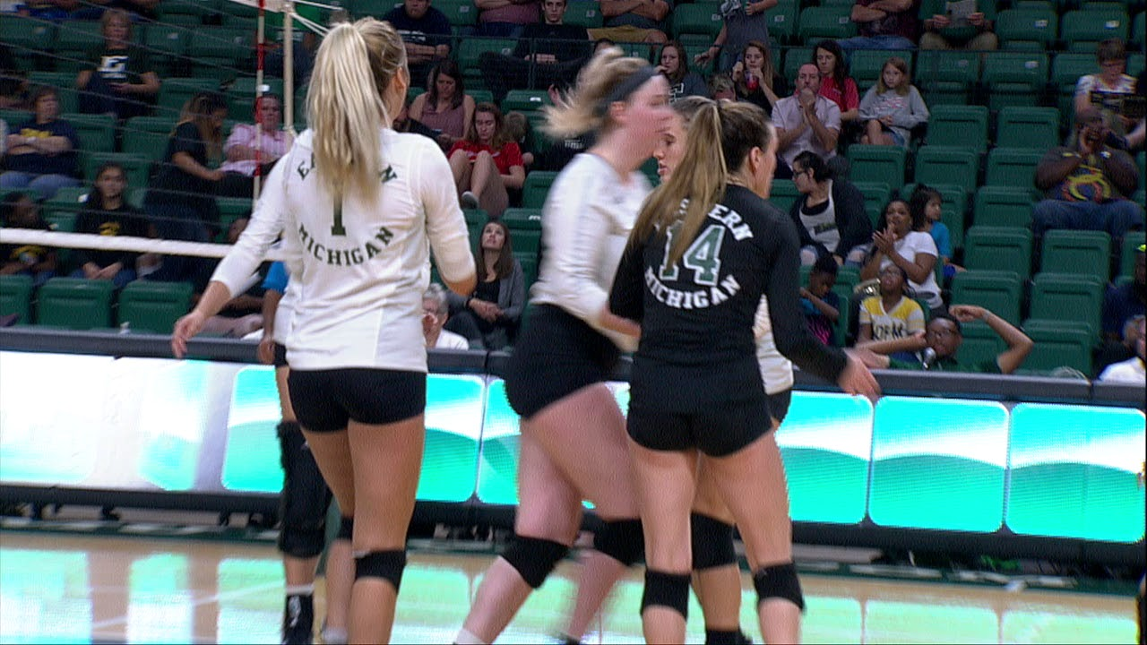 Emu Volleyball Drops Another Tight Match Against Ohio Youtube