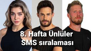Survivor 2021 | 8. Hafta Ünlüler SMS sıralaması