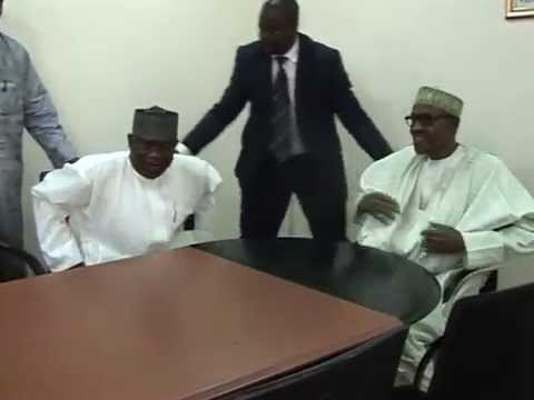 Senate President David Mark Paid Congratulatory Visit to President-elect Muhammadu Buhari