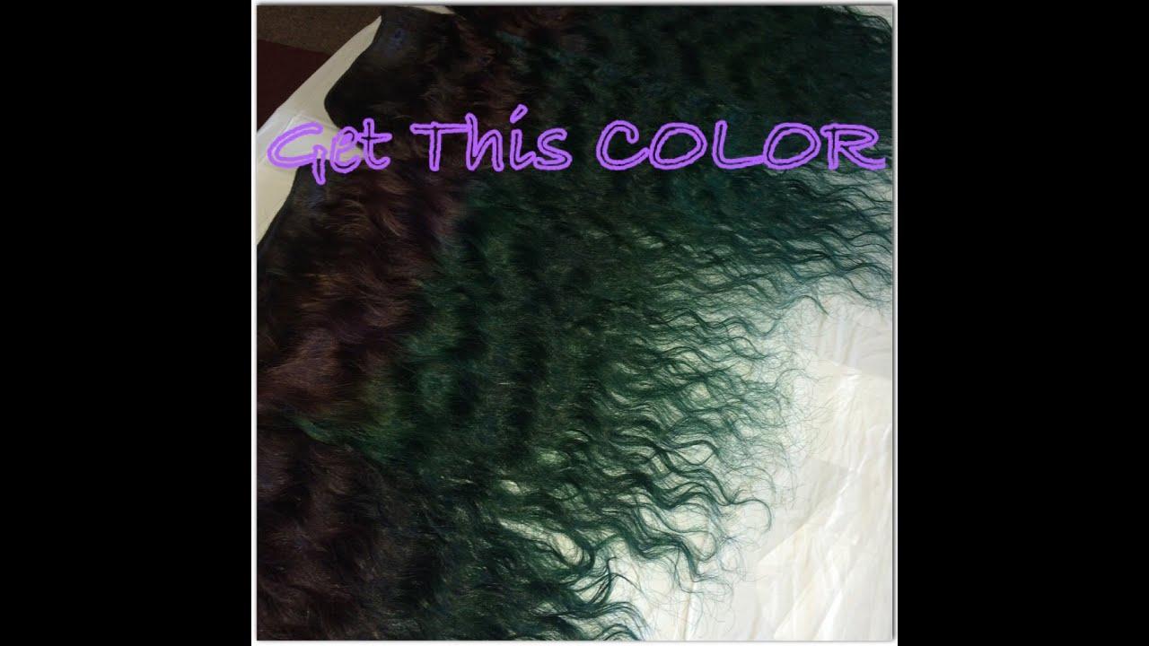 New Hair Color Using Adore Semi Permanent Color Purple Green