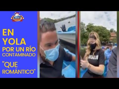 """Cristian Y Alexandra Montados En Yola Por Un Río Contaminado """"Que Romántico"""""""