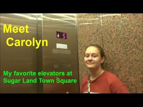 Carolyn visits my favorite elevators at Sugar Land Town Square!