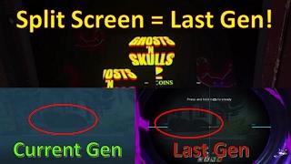 Split Screen = Last Gen Infinite Warfare.... Rave in the Redwoods - Infinite Warfare Zombies