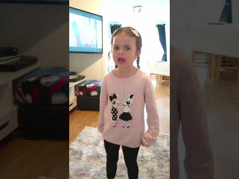 Ramz barking, sophia singing 6 years