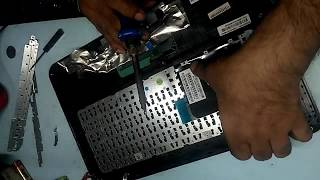 Disassembly of HP laptop and keyboard replacement, model 14-D013AU ,( heat stacked rivet keyboard)