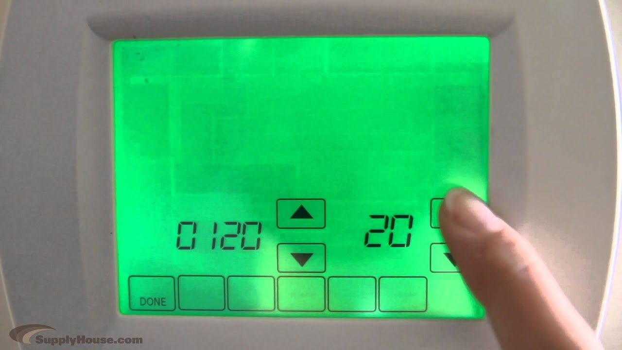 How To Change The Day For Visionpro Thermostats Youtube