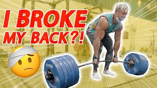 260kg Deadlift BROKE My Back ft Larry Wheels, Matt Does Fitness & Mike Thurston