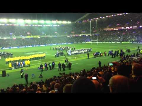 Flower of Scotland. Scotland v Australia 23/11/13