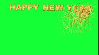 happy new year 2020 green screen status happy new year 2020 Animated text Green Screen