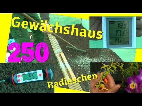 Ganz und zu Extrem Gewächshaus Beet vorbereiten / Temperatur Check im Boden und Luft @VG_06