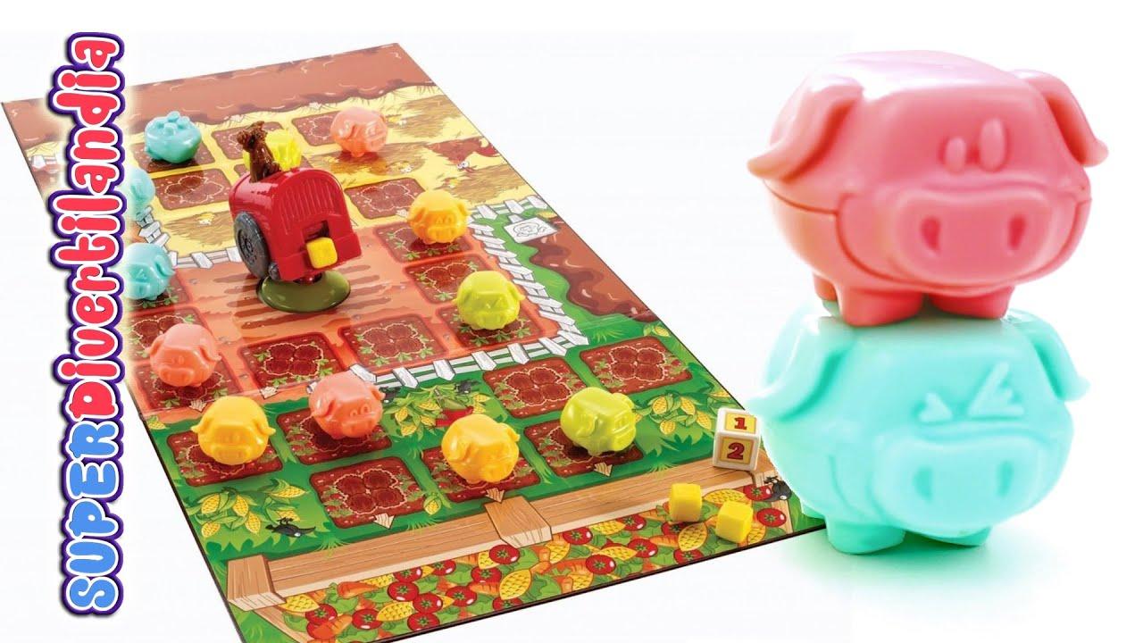 Cerditos a la carrera juego de mesa youtube for La resistencia juego de mesa