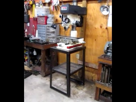 Building A Milling Machine Stand Youtube