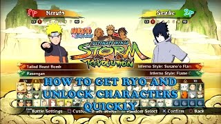 Fastest Way to Unlock All Characters Naruto Shippuden Ultimate Ninja Storm Revolution
