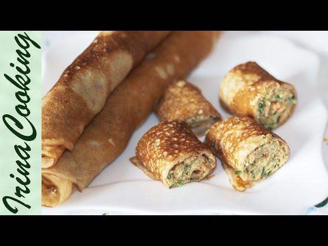 Блины из Ржаной Муки с Красной Рыбой 🥞| Rye flour pancakes stuffed with ○ Ирина Кукинг