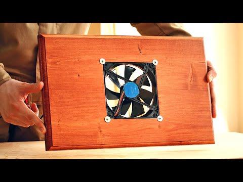 4K Обзор деревянной подставки для ноутбука, Laptop Cooling Stand Made Of Wood