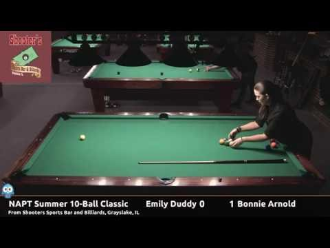 Emily Duddy vs Bonnie Arnold  NAPT 2016 Summer 10Ball Classic