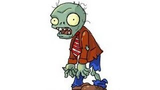 How to draw a Zombie from Plants vs. Zombies
