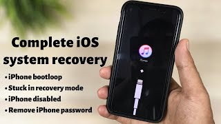 Complete iOS system recovery by Tuneskit