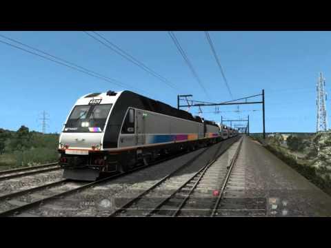 Train Simulator 2016: New Jersey Coast Line. From Penn Station Manhattan NYC To Bay Head New Jersey
